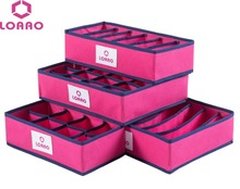 LOAAO 4 in 1 per set foldable storage box home organizer Box bins bra underwear necktie socks storage organizer(China)