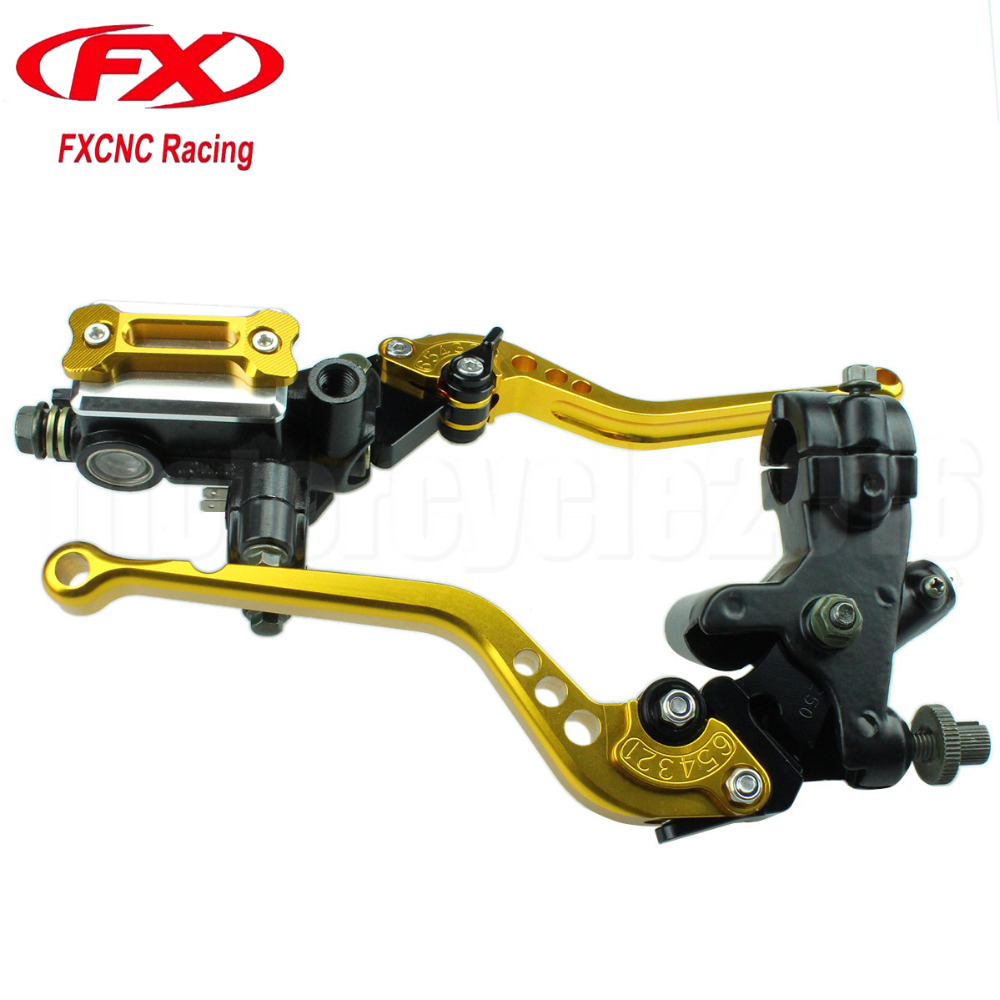 7/8 22mm Universal Motorcycles Brake Clutch Levers Master Cylinder Reservoir Set For Honda Grom 2015 125-300CC Hydraulic Brake <br>