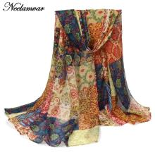 Neelamvar new designer Winter fall woman  scarf voile cotton  scarves  retro style brand shawl girl wrap luxury brand  bufandas