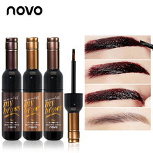 NOVO Brand Eye Makeup Red Wine Eye Brow Tattoo Tint Long-lasting Waterproof Dye Eyebrow Gel Cream Mascara Make Up Cosmetics(China)
