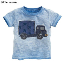Little maven kids brand clothes 2017 summer baby boys clothes truck print t shirt Cotton brand tee tops 50677