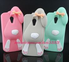 For Motorola Moto G2 Hot 3D Silicon Bunny Rabbit Cartoon Soft Cell Phone Back Cover Case for Motorola Moto G2 G+1 XT1068 XT1069