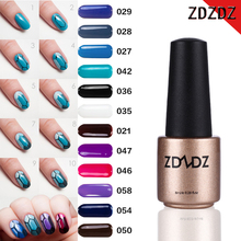 ZDZDZ DIY UV Nail Gel Polish Red and Blue Nail Polish DIY Long Lasting German Material Lacquer Varnish Manicure Pigment Polish(China)