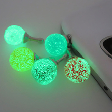 Glow Luminous 3.5mm Headset Headphone Anti Dust Ear Cap Plug For Sumsang HTC Universal Cell Phone