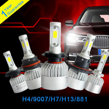 2Pcs H4 LED H7 H13 9007 881 COB Chips Car Led Headlight 72W 8000LM Hi/Lo Beam Automobiles Headlamp Bulb Fog Lamp 6500K Car Light
