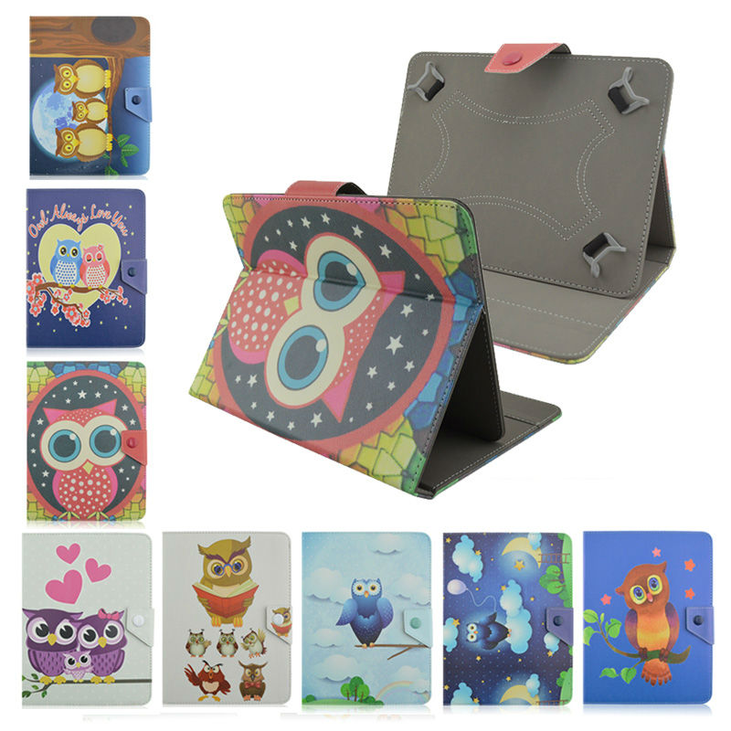 Child cartoon fashion OWL Leather cover case for DEXP Ursus A170i JOY 7 inch tablet stand smart Case for universal bags+flim<br><br>Aliexpress