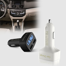 3.1A USB Car Charger with Voltage Current Temperature LED Display Dual USB Charger for Huawei P7 P6 P9 iphone 5 5s 6 6s 4 4s a1