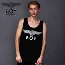 BOY LONDON Men Vest Fitness Apparel Body Stringers Street Workout Tank Tops Simple Black Sleeveless Tee Homens Gyms Clothing