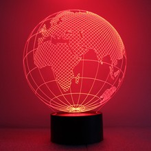 1X Globe Table lamp Novelty Led Desk Lamp 3D Europe Map Led Lights USB charge 7 Colors Changing Night Light Promotional Gifts(China)
