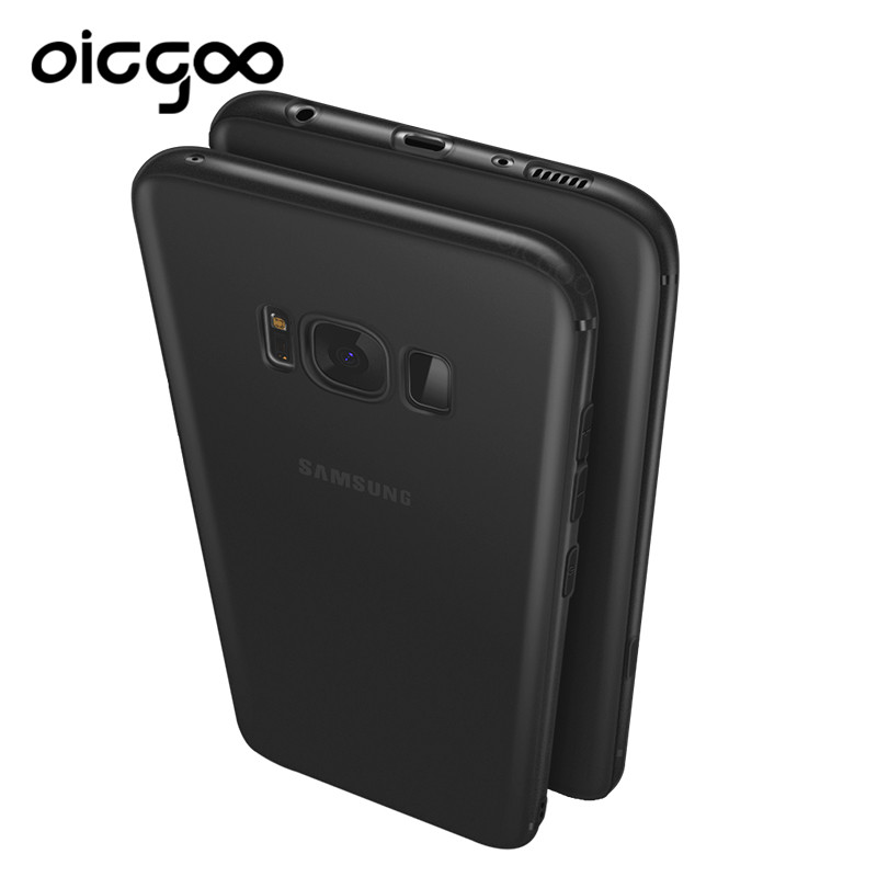 Oicgoo Soft Thin TPU Back Full Cover Case For Samsung Galaxy S8 S8 Plus Slim Case For Samsung Galaxy S7 S7 Edge Protective Cases(China (Mainland))