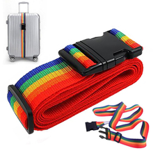 MAYITR Outdoor Tools Adjustable Travel Rainbow Suitcase Luggage Baggage Straps Packing Belt Outdoor Supplies