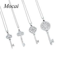 2016 Famous Brand Bijoux Tiff Jewelry Cubic Zirconia Micro Pave Setting Flower Key Short Necklace Multi Style ZK35