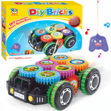Toys DIY Imagination Building Bricks Blocks Car Innovative design rolling gear toy car DIY Model Building Kits New Year gifts(China)