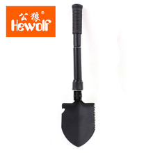 Hewolf small  Folding Shovel Outdoor Camping Shovel Survival with Trowel Tool with Snow Spade Pick Saw useful tools