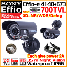 With Bracket 700TVL SONY CDD Effio-e Cctv Hd CAMERA 3.0MP-LENS Indoor/Outdoor Waterproof IP66 Infrared 35m Surveillance Product