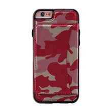 10PCS For iPhone 5/6/6P/7/7P PU Anti-knock Back Cover Flip Case Camouflage Cell Phone Housing For Samsung S6 S7 S6/S7 Edge Capa