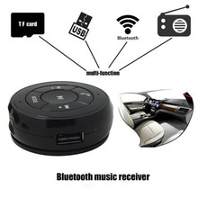 Bluetooth Car Kit Wireless Phone Music Audio Receiver Adapter Adsorption Design Support Hands Free FM Radio TF Card U Disk(China)