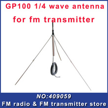 10PCS  1/4 wave GP100  fm broadcast antenna  for 5w,7w,15w,30w,50w,100w FM Transmitter  Free shipping