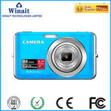 "Stock Promotion 12MP Cheap Gift 5MP CMOS Sensor Digital Camera 2.7"" Screen Lithium Battery and 8X Digital Zoom"