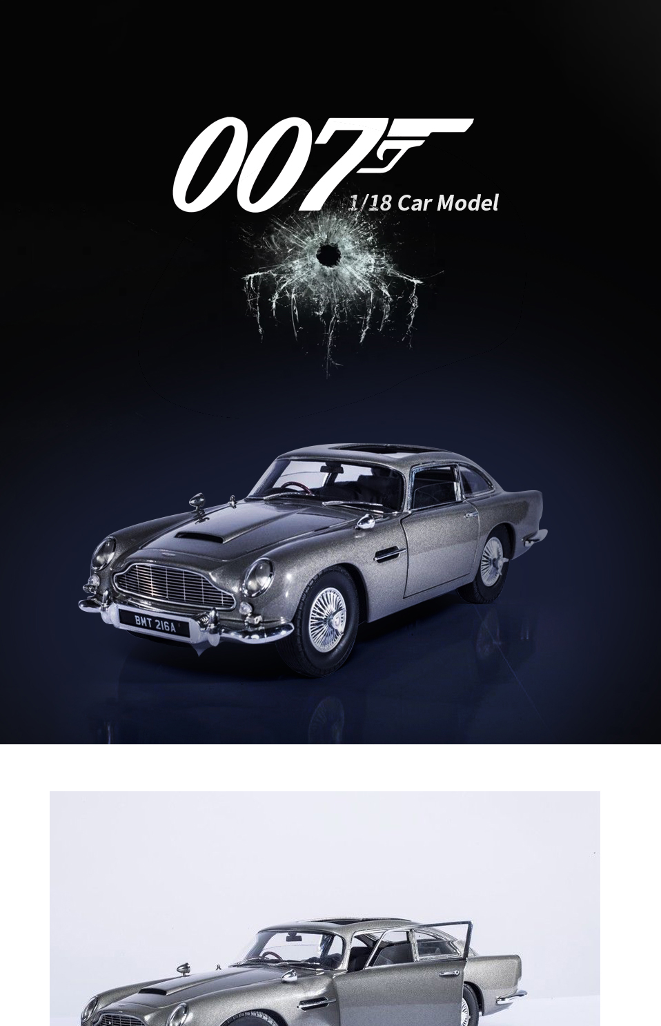 1 18 scale car models 2-4 Years james bond 007 collectables Aston Matin DB5 Diecasts & Toy Vehicles Model Toys For Gifts (1)