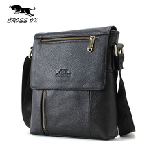 CROSS OX Men's Genuine Leather Messenger Bag Crossbody Shoulder Bag For Men Business Fashion Casual Travel Bags SL320M