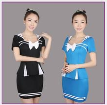 Buy Dtwobros Sexy Flight Attendant Costume Air Hostess Outfits Backless Stewardess Halloween Costumes Officer Erotic Dress Porn