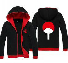 NEW Anime Naruto Uchiha Sasuke Red and Black Clothing Casual Sweatshirt Hoodie Unisex Coat Jacket