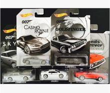 Hot wheels James Bond 007 movie set 1:64 car model Limited collection boy Aston Martin sports car racing diecast