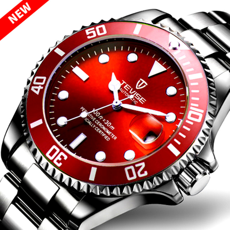 New TEVISE Watches Men Automatic Mechanical Watch Men Luxury saat Male Clock Luminous Calendar Watches for Men Relogio Masculino<br>