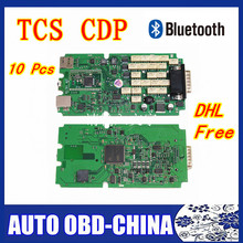 10 pcs DHL free ds cdp+ TCS cdp single green PCB 2015.1 /2014.2 software cdp+ car / trucks diagnostic tool With bluetooth