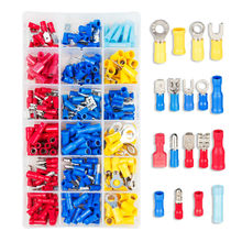 260pcs Assorted Female Disconnect Male Connector Insulated Terminals Assortment Kit Electrical Crimp Ring Spade Connectors Set