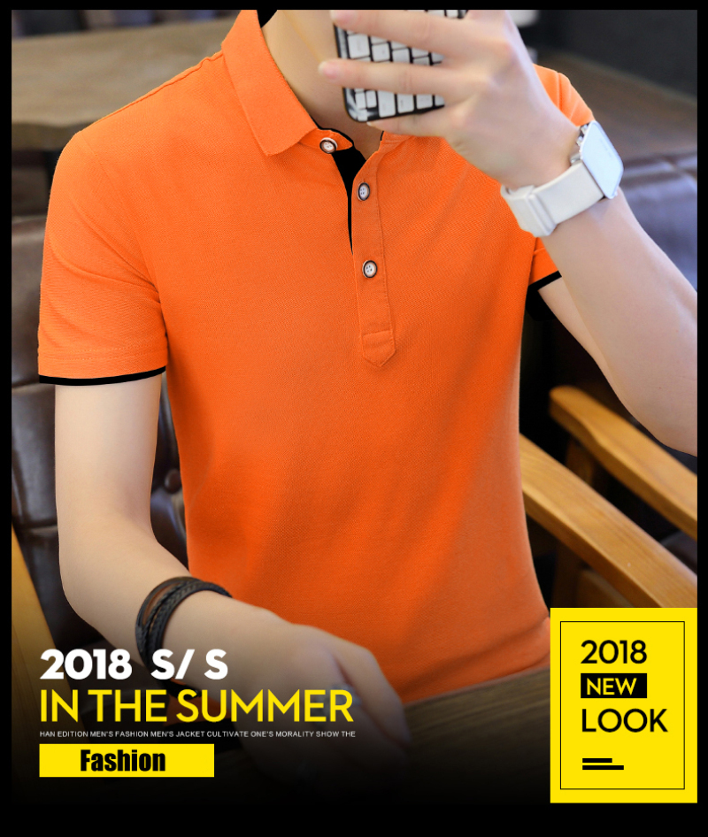 SD Polo Shirts Men 2018 New Arrivals Casual Male Polo Shirts Breathable Cotton Tops High Quality Solid camisa Polos Homme 413 9