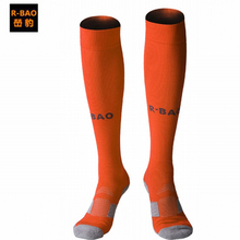 R-bao 8 Color Outdoor Sports Stocking Breathable Football Thicken Knee-high Soccer Socks Compression Professional Cycling Socks(China)