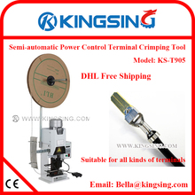 Precise Compact Desktop Terminal Wire & Connector Crimping Machine for Various Terminals & Die Set KS-T905 + DHL Free Shipping