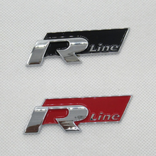 R Line Metal Car Emblem metal Car Badge,metal car styling sticker, with double side adhesive,Free shipping