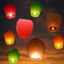 2016 Free Shipping DHL rapid transit 500pcs Hot Sale Multicolors Paper SKY LANTERNS Flying Paper Sky Lanterns(China)