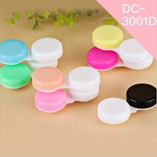 LIUSVENTINA transparent simple  contact lens case lenses container Material box 20pcs/lot Random color