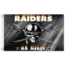 NO MERCY RAIDERS Flag Your Text Custom Banner Football World Series 3ft X 5ft Oakland Raiders Banner Flag NO MERCY RAIDERS Flags(China)