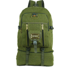 50L large Capacity Outdoor Sports Backpack High Quality Canvas Travel Rucksack Heavy Duty Bag Mountaineering BackPack Molle Bags