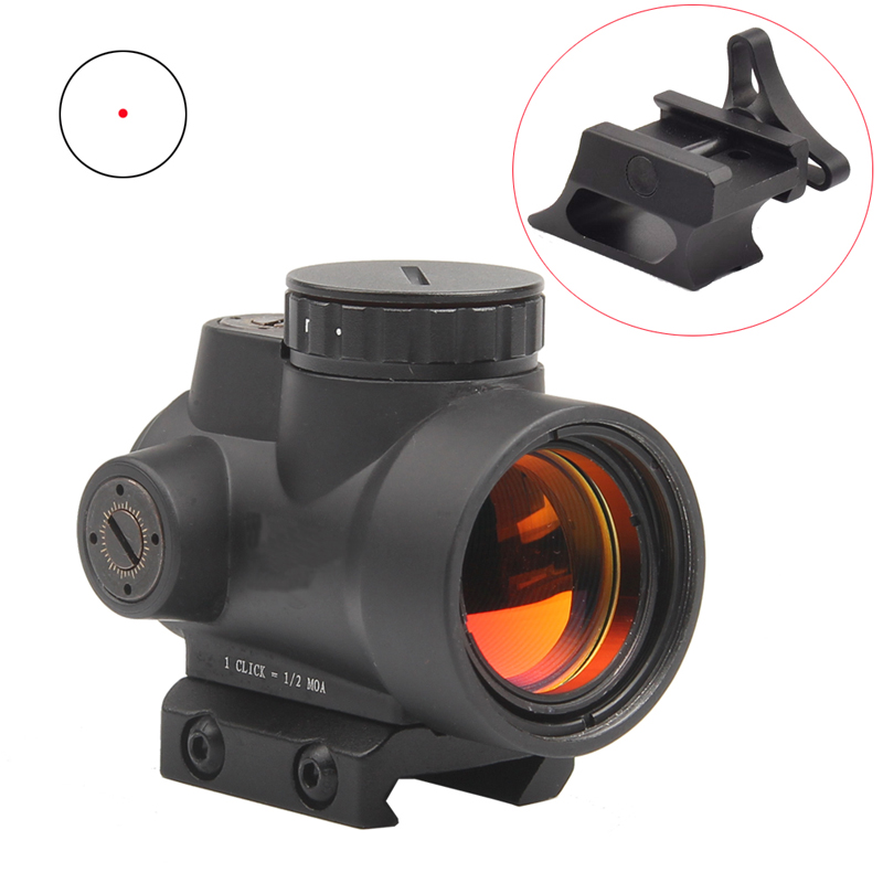 Tactical MRO Style 1x Red Dot Sight 8 Brightness settings Scope Shotgun Scope Hunting Riflescope Mount 20MM HT5-0036<br>