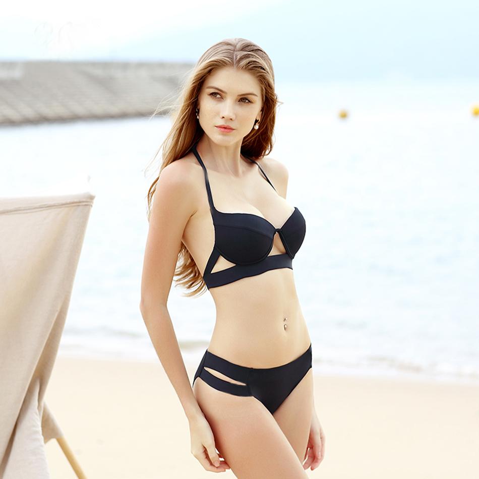 Hot Sale Strappy Bikini 17 Bandage Bikini Sets Push Up Bra Swimsuit Bathing Suit Brazilian Biquini Hollow Out Maillot De Bain 4