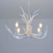 Modern white Resin Antler Chandelier Lighting Novelty Lustre for Dining Room Living Room Europe Avize Luminaire(China)