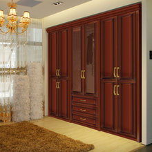 OPPEIN Top Grade Wooden Wardrobe with 3 Drawers YG11179