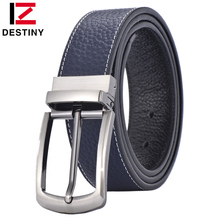 DESTINY Famous Designers Men Belts Leather Luxury Brand High Quality Top Cowskin Wide Strap Male Wedding Pin Buckle Rotate Jeans