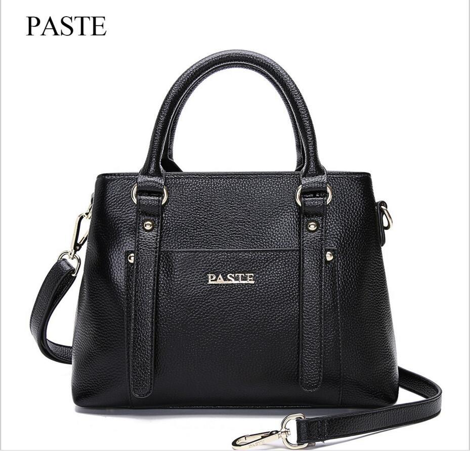 PASTE Original New Leather Handbags First Layer of Leather Handbag Shoulder Messenger Bag Leisure Fashion Wild Tide Package<br>