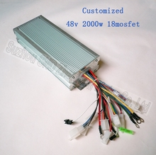 Max current 50A brushless 1500w voltage 48V60v72v 2000W 18 mosfet electric motor controller for electric bicycle G-K024