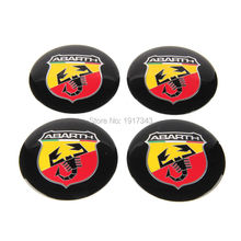 4pcs 56.5mm Abarth Car Emblem Wheel Center Hub Cap Resin Badge wheel Decal Sticker For FIAT 124 125 500 695 OT2000 Coupe