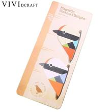 Vividcraft 2pcs Material Escolar DIY Paper Bookmarks For Books Markers Holder Kawaii Cartoon Animals Stationery Items Papeleria(China)