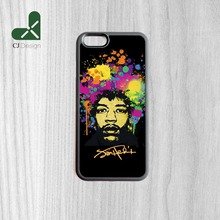 New Arrival Popular Jimi hendrix Pattern Style Back Mobile Accessories Protective Cover For iPhone 6 6s And 4 4s 5 5s 5c 6 Plus(China)
