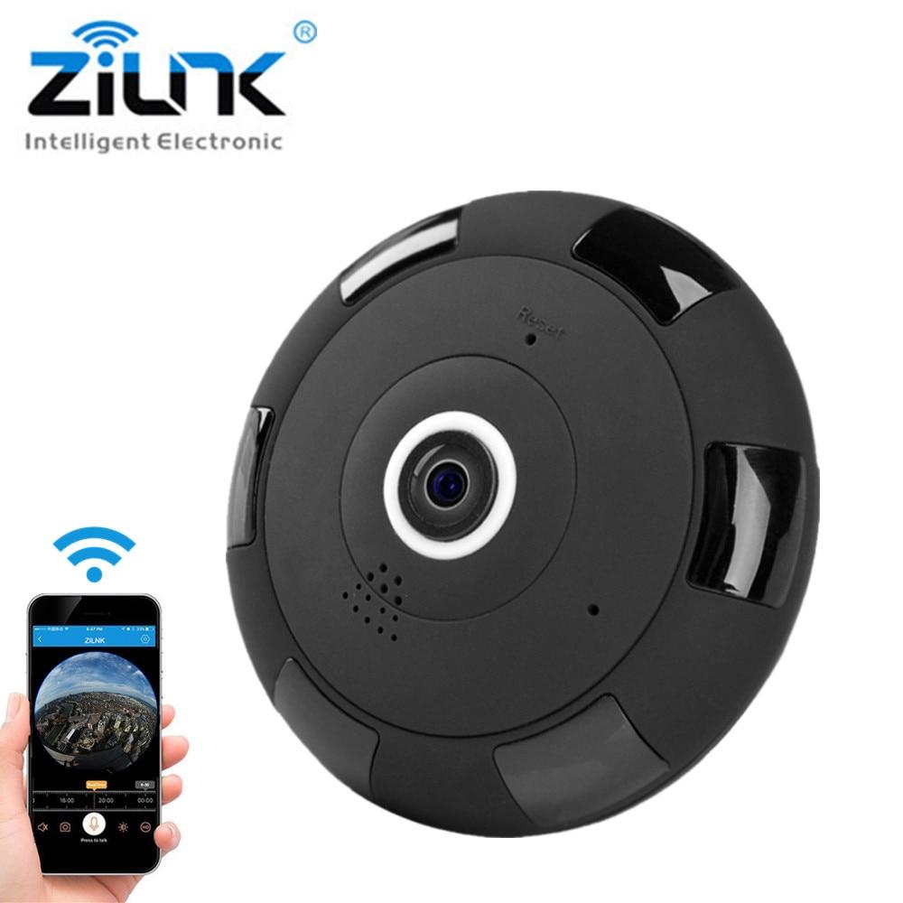 ZILNK IP Camera 1080P HD FishEye 360 Degree Panoramic Mini WIFI Camera Wireless Network CCTV Camera Support 64GB TF Card <br>